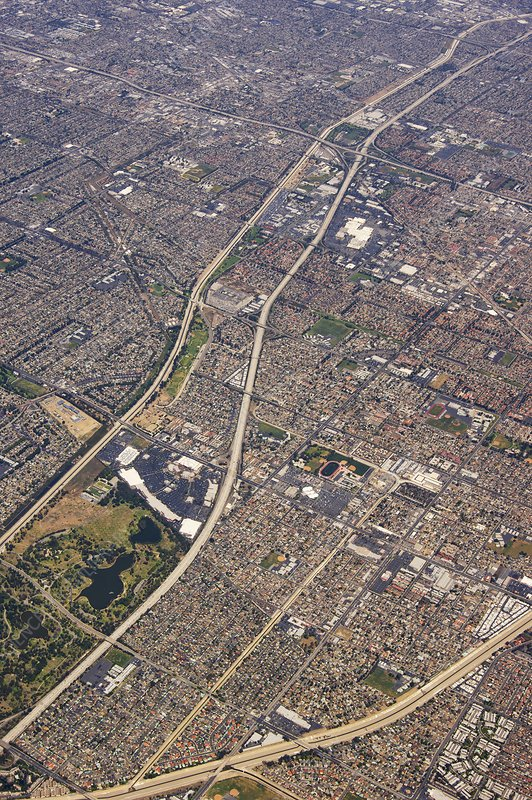 Eastern Los Angeles from the air.