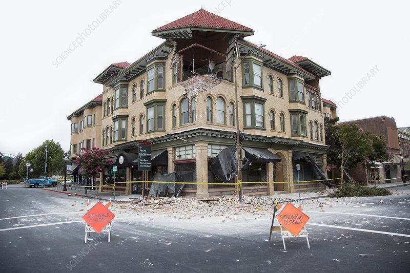 Earthquake damage, California, 2014
