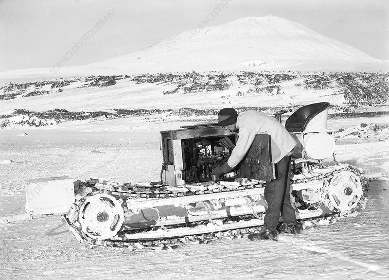 Terra Nova Antarctic motor sledge, 1911