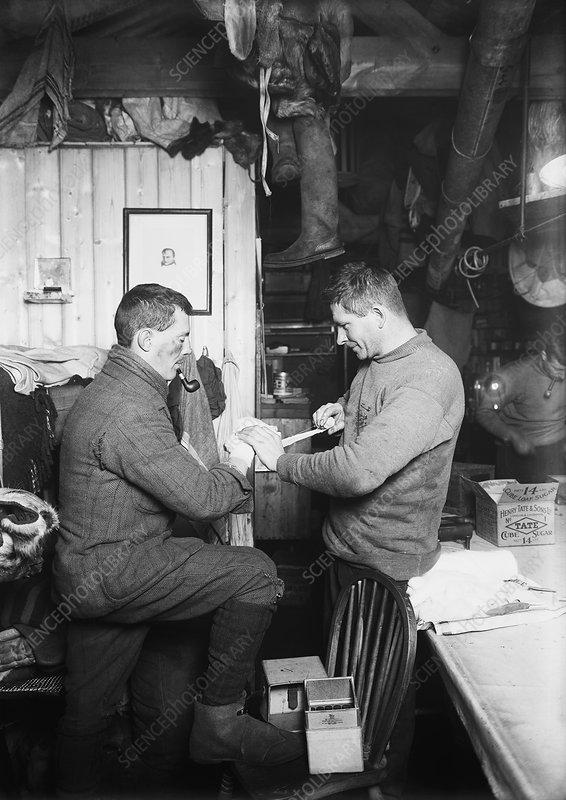 Antarctic frostbite treatment, 1911