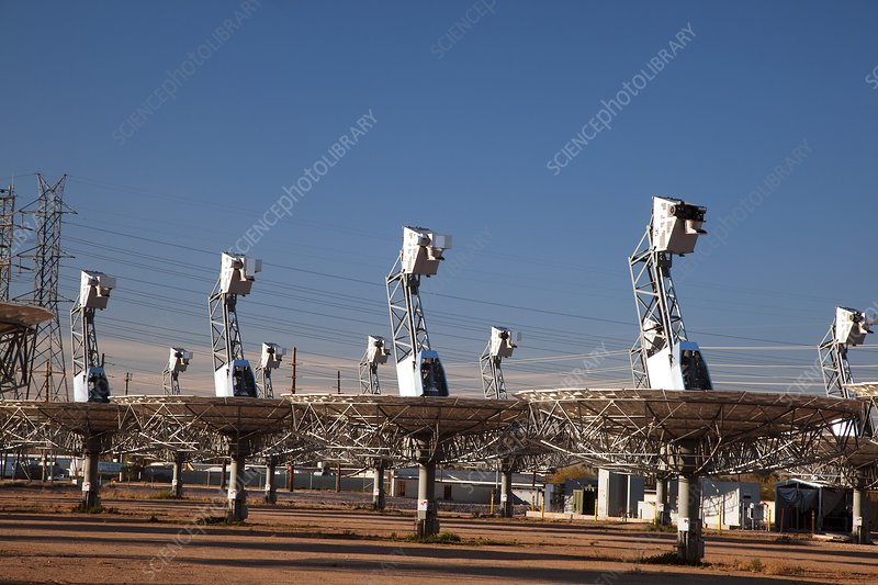 Disused solar power plant, USA