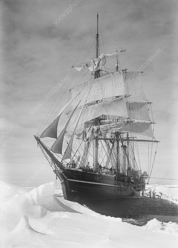 Terra Nova in Antarctic pack ice, 1910