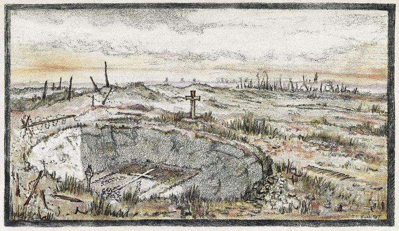 Cemetery on Vimy Ridge, World War I