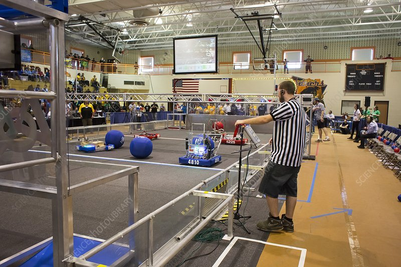 High school robotics competition, USA