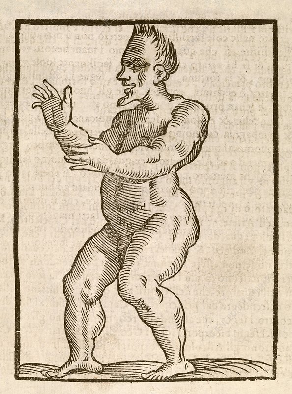 Monstrous human figure, 17th century