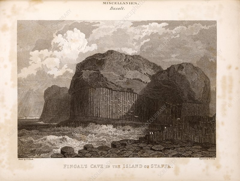 Fingal's Cave on Staffa, 19th century