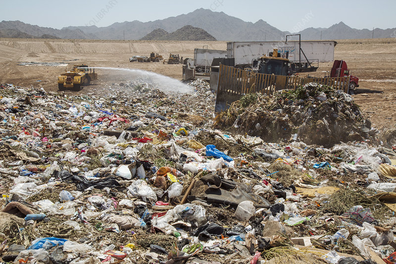 Landfill waste disposal site