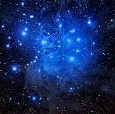 Pleiades star cluster, optical image