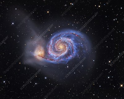 Whirlpool Galaxy, optical image
