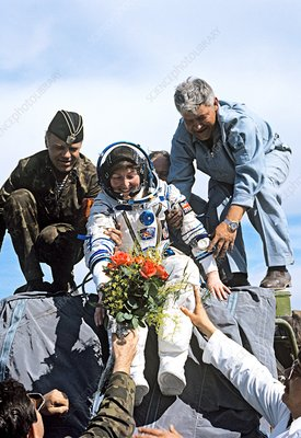 Landing of astronaut Helen Sharman, 1991