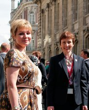 Yelena Gagarina and Helen Sharman, 2011