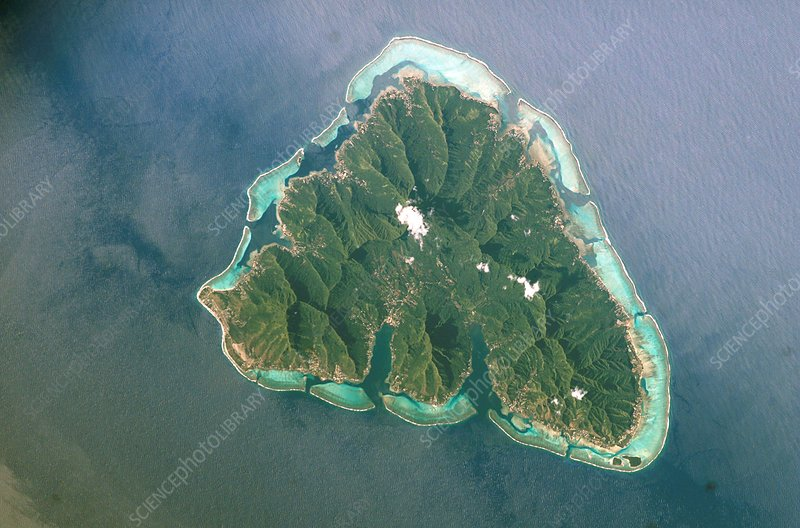 Moorea, French Polynesia, ISS image