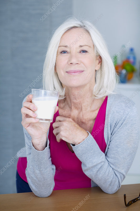 Elderly person, dairy product