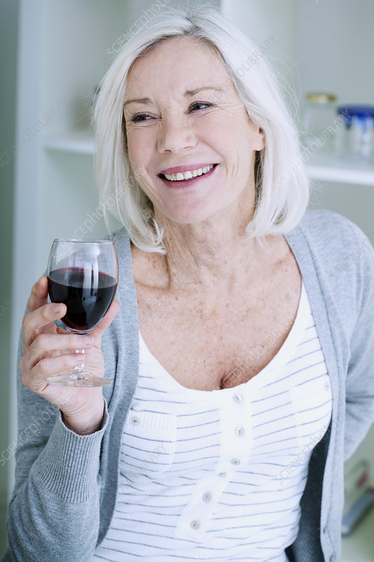 Elderly person drinking