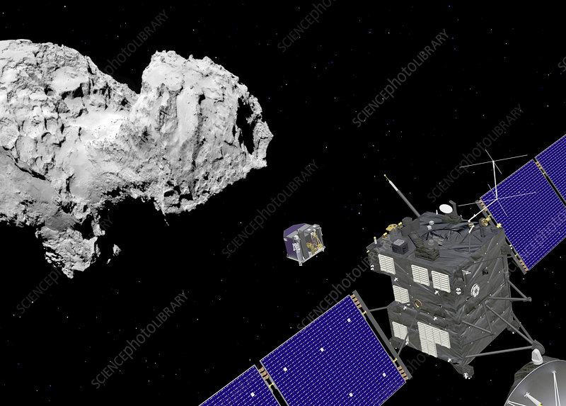 Rosetta ploying Philae lander