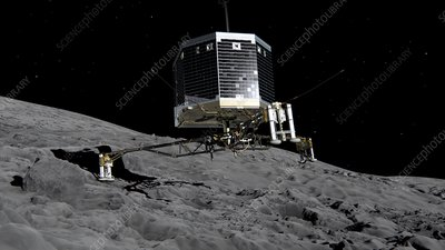 Philae landing on comet, artwork