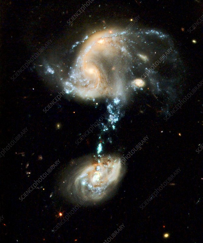 Interacting galaxies Arp 194, HST image