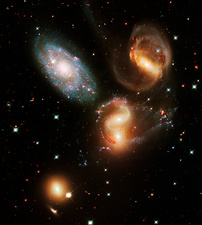 Stephan's Quintet galaxies, HST image