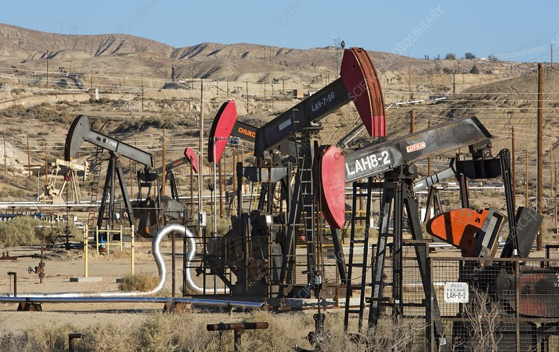 Oil production, California, USA