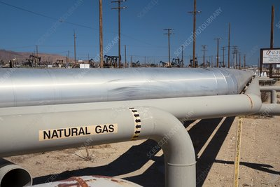 Natural gas pipelines, USA
