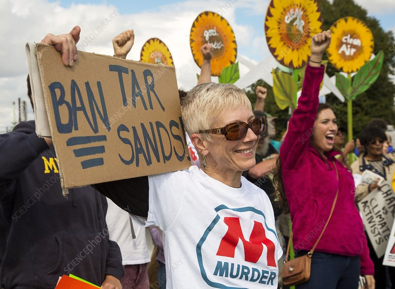 Protest against tar sands