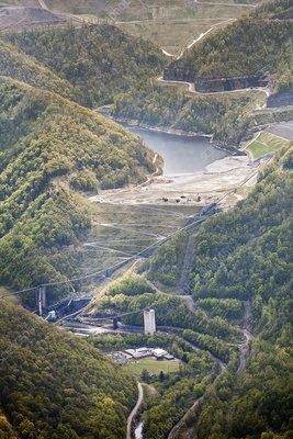 Coal sludge dam, West Virginia, USA