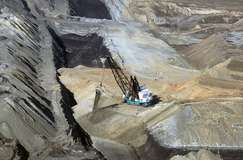Surface coal mine, Wyoming, USA