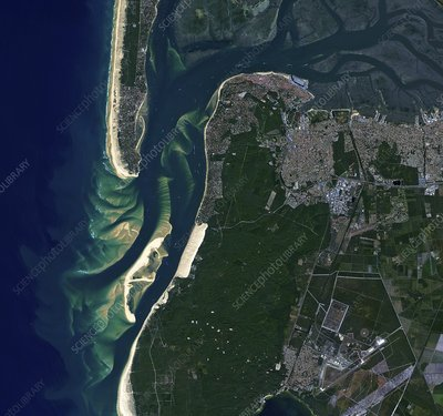 Arcachon Bay, France, satellite image