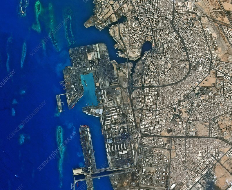 Jeddah seaport, satellite image