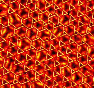 Layered metal catalyst, STM image