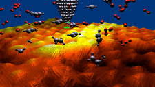 Nanomolecules on graphene, artwork