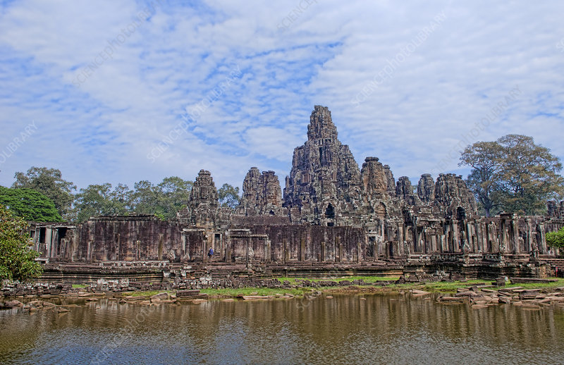 Famous Bayon Temple, Cambodia