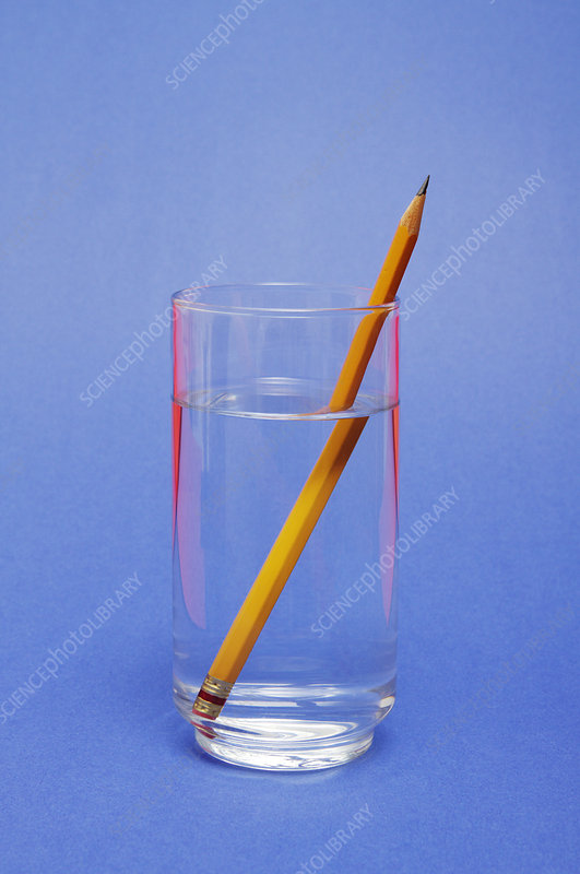 Pencil in a glass of water