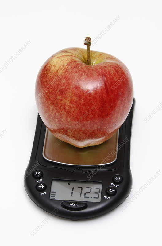 Apple weight in grams