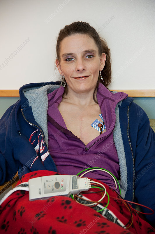 Woman with Heart Monitor