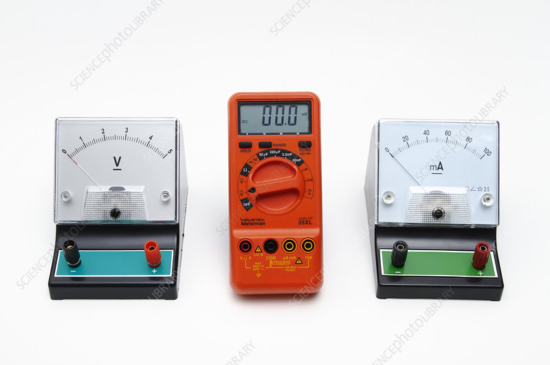 Voltmeter, multimeter, and ammeter