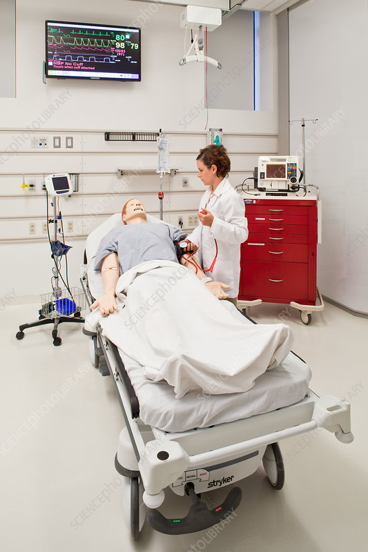 Medical Student with a Simulation Manikin