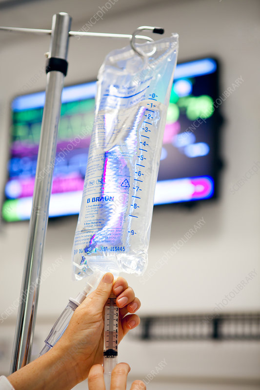 Injecting into IV Drip Bag