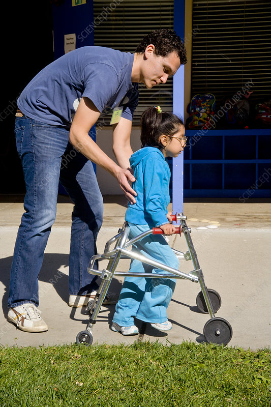 Disabled Child with Walker