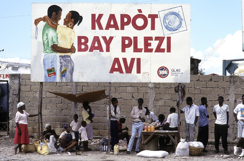 AIDS Prevention Billboard, Haiti, 1994