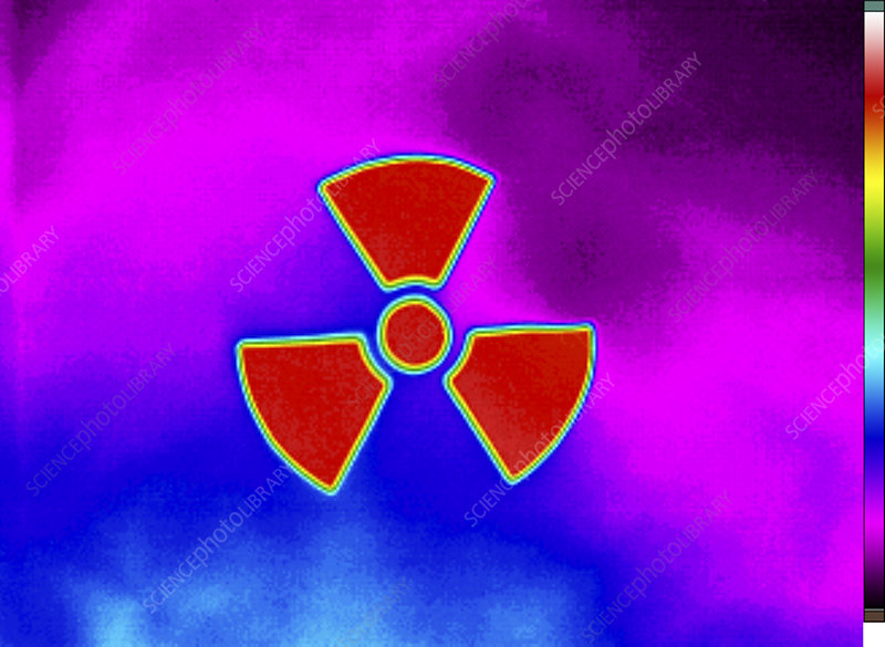 Thermogram of a Radiation Sign