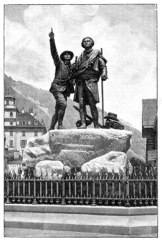 Mont Blanc first ascent monument, 1887