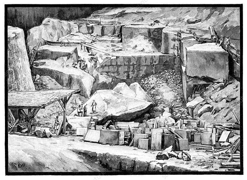 Marble quarry, 19th century
