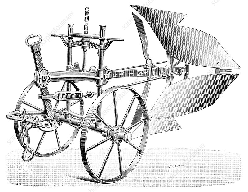 Dual-Brabant plough, 19th century