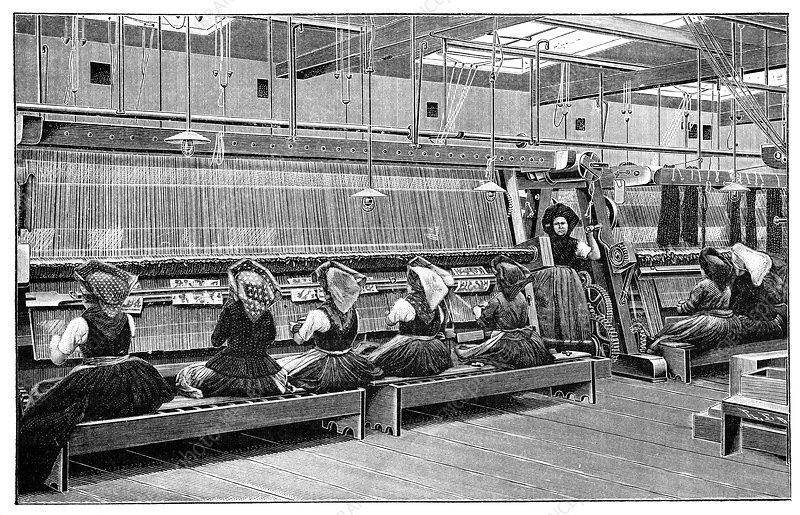 Carpet weaving in Turkey, 19th century