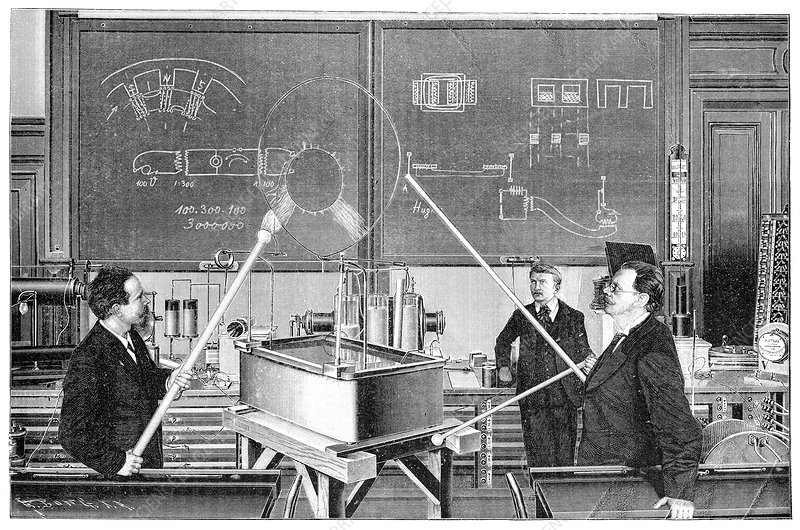 Slaby's electrotechnical laboratory, 1900