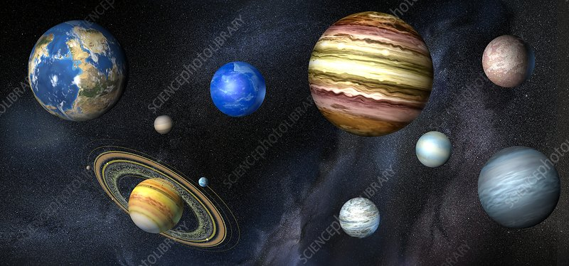 Artwork of exoplanets