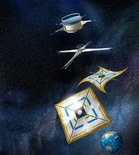 Ikaros solar sail, artwork