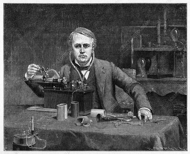 Thomas Edison, US inventor, artwork