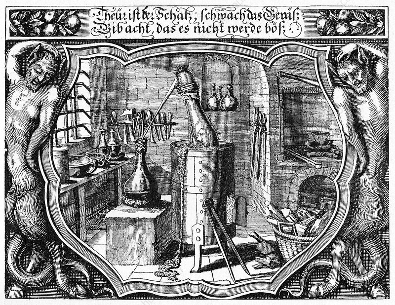 17th Century alchemist's laboratory